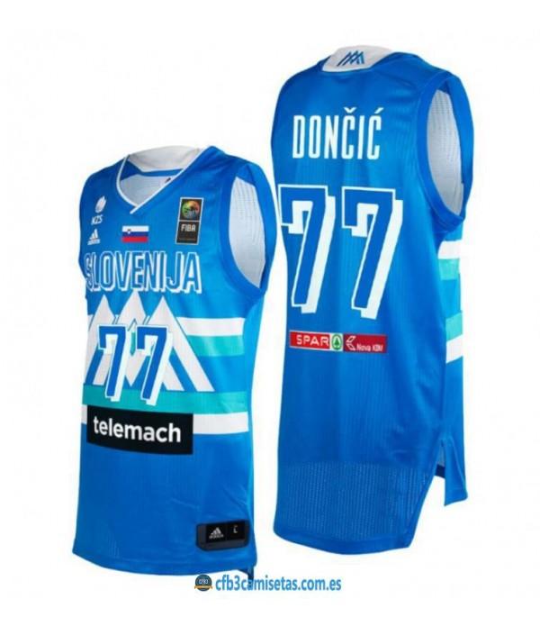 CFB3-Camisetas Luka doncic eslovenia 2021 jjoo - blue