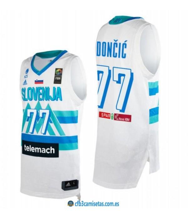 CFB3-Camisetas Luka doncic eslovenia 2021 jjoo - white