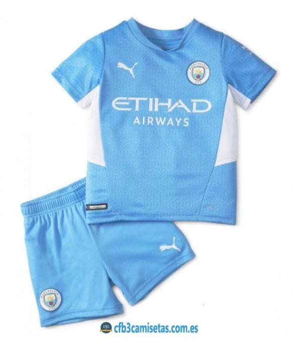 CFB3-Camisetas Manchester city 1a equipación 2021/22 - niÑos