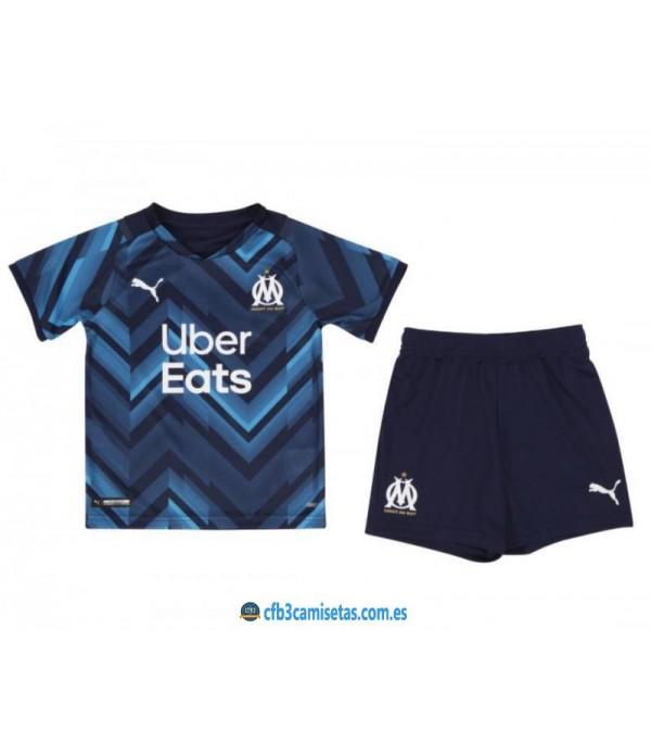 CFB3-Camisetas Olympique marsella 2a equipación 2021/22 - niÑos