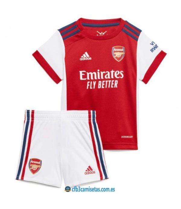 CFB3-Camisetas Arsenal 1a equipación 2021/22 - niÑos