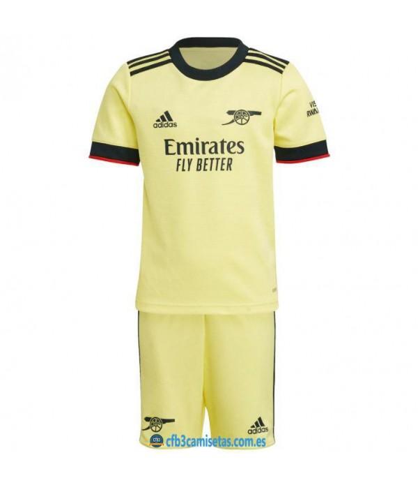 CFB3-Camisetas Arsenal 2a equipación 2021/22 - niÑos