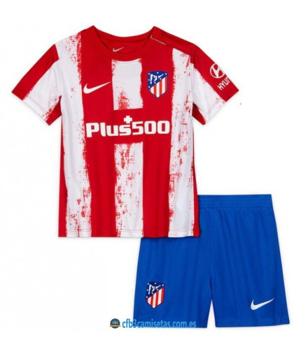 CFB3-Camisetas Atlético madrid 1a equipación 2021/22 - niÑos