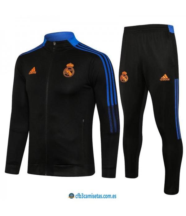 CFB3-Camisetas Chándal real madrid 2021/22 black - niÑos