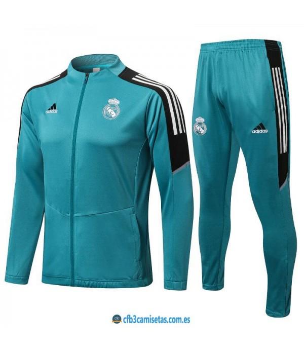 CFB3-Camisetas Chándal real madrid 2021/22 blue