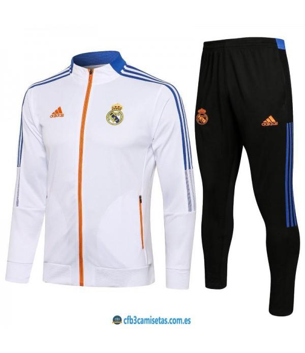CFB3-Camisetas Chándal real madrid 2021/22 white - niÑos