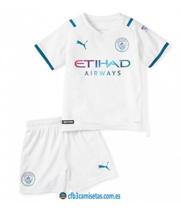 CFB3-Camisetas Manchester city 2a equipación 2021/22 - niÑos