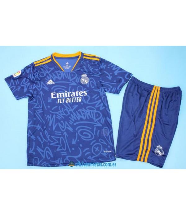 CFB3-Camisetas Real madrid 2a equipación 2021/22 - niÑos