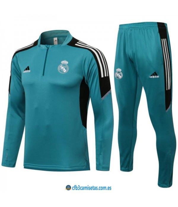 CFB3-Camisetas Chándal real madrid 2021/22 azul