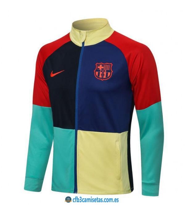 CFB3-Camisetas Chaqueta fc barcelona 2021/22 color