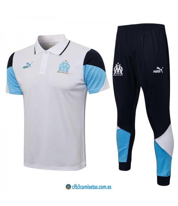CFB3-Camisetas Polo blanco pantalones olympique marsella 2021/22