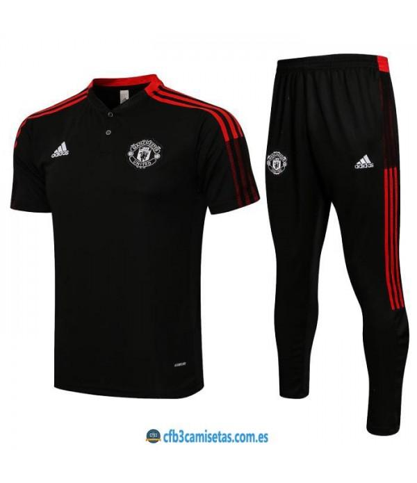CFB3-Camisetas Polo pantalones manchester united 2021/22