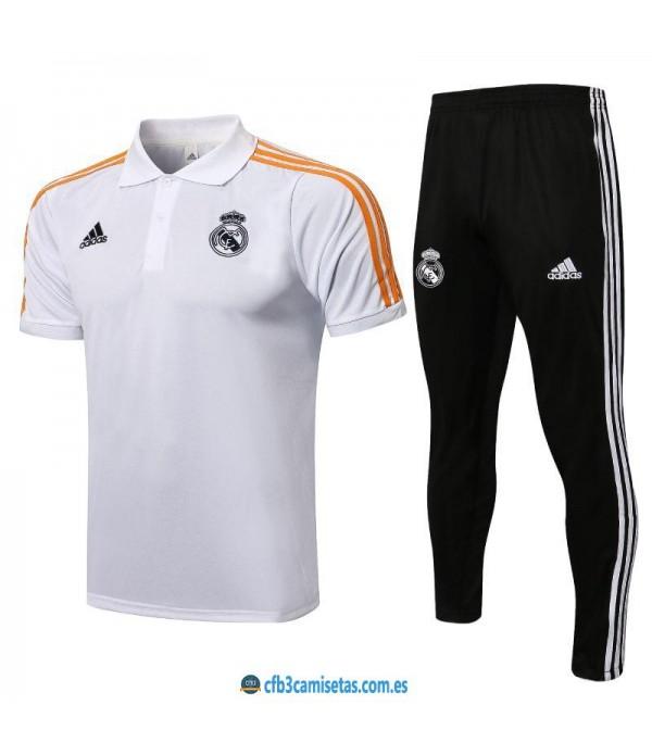 CFB3-Camisetas Polo pantalones real madrid 2021/22
